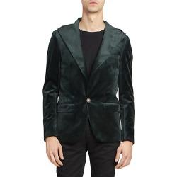 Balmain Men's Hooded Velvet Blazer - Vert - Size 56 (46) found on MODAPINS from Saks Fifth Avenue for USD $718.49