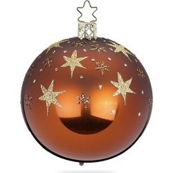 Inge's Christmas Decor Star Sky Glass Ball Ornament - Brown found on Bargain Bro India from Saks Fifth Avenue for $18.00