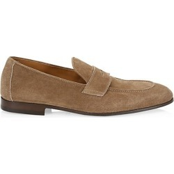 Brunello Cucinelli Men's Suede Structured Penny Loafers - Brown - Size 43 (10) found on MODAPINS from Saks Fifth Avenue for USD $795.00