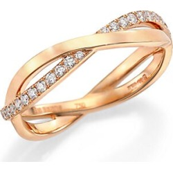 De Beers Women's Infinity Diamond & 18K Rose Gold Half Band Ring - Rose Gold - Size 6.5 found on Bargain Bro Philippines from Saks Fifth Avenue for $2500.00