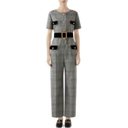 Short Sleeve Prince Of Wales Check Belted Jumpsuit found on Bargain Bro Philippines from Saks Fifth Avenue Canada for $4477.27