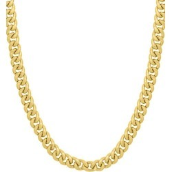 14K Yellow Gold Miami Cuban Chain Necklace found on Bargain Bro Philippines from Saks Fifth Avenue OFF 5TH for $4257.50