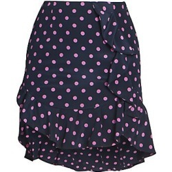Alessandra Rich Women's Polka Dot Ruffle Skirt - Blue Pink - Size 42 (8) found on MODAPINS from Saks Fifth Avenue for USD $483.00