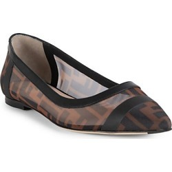 Fendi Women's Leather-Trimmed Mesh Flats - Size 36 (6) found on MODAPINS from Saks Fifth Avenue for USD $690.00