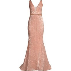 Jovani Women's Deep V Sequin Gown - Champagne - Size 6 found on Bargain Bro India from Saks Fifth Avenue for $500.00