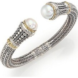 Konstantino Women's Classic 10MM White Mabe Pearl, 18K Yellow Gold & Sterling Silver Cuff Bracelet - Silver Gold found on Bargain Bro India from Saks Fifth Avenue for $1460.00