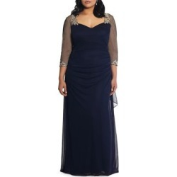 Plus Embellished Cocktail Gown