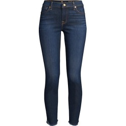 7 For All Mankind Women's Mid-Rise Raw Hem Ankle Skinny Jeans - Midnight Moon - Size 27 (4) found on MODAPINS from Saks Fifth Avenue for USD $179.00
