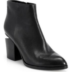 Gabi Leather Block Heel Booties found on Bargain Bro India from Saks Fifth Avenue Canada for $786.95