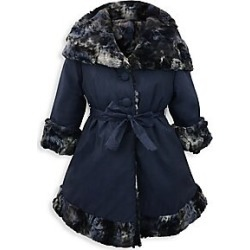 Helena and Harry Little Girl's & Girl's Reversible Faux Fur-Lined Hooded Jacket - Navy Multi - Size 4 found on Bargain Bro India from Saks Fifth Avenue for $129.37
