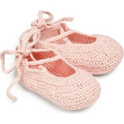 Elegant Baby Baby's Knit Ballet Booties - Pink - Size 0-6 Months found on Bargain Bro Philippines from Saks Fifth Avenue for $17.00