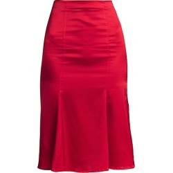Caroline Constas Women's Blaise Pleated Silk-Blend Skirt - Ruby Red - Size XS found on MODAPINS from Saks Fifth Avenue for USD $157.99