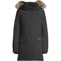 Canada Goose Women's Trillium Coyote Fur-Trim Down Parka - Black - Size Large found on MODAPINS from Saks Fifth Avenue for USD $1150.00