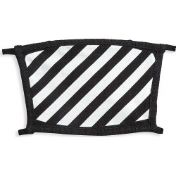 Off-White Men's Diagonal Stripes Face Mask - Black White found on MODAPINS from Saks Fifth Avenue for USD $105.00