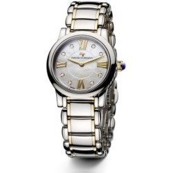 Classic 30MM Stainless Steel and 18K Gold Quartz Watch with Diamonds