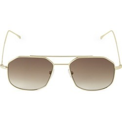 Illesteva Women's Montevideo 53MM Browline Aviator Sunglasses - Gold found on MODAPINS from Saks Fifth Avenue for USD $195.00
