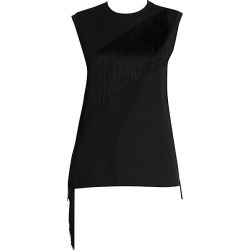 Stella McCartney Women's Fringe Jersey Muscle Tee - Black - Size 36 (2)