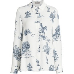Lela Rose Women's Reyrosa Toile Blouse - Ivory Reyrosa - Size 8 found on MODAPINS from Saks Fifth Avenue for USD $267.00