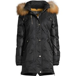 Nicole Benisti Women's Chelsea Fur-Lined Hooded Down Jacket - Black Gold - Size XS found on MODAPINS from Saks Fifth Avenue for USD $1650.00