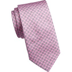 Saks Fifth Avenue Men's COLLECTION Mini Bulldog Print Silk Tie - Light Pastel Pink found on Bargain Bro Philippines from Saks Fifth Avenue for $128.00