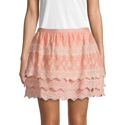 Embroidered Cotton & Silk Blend Mini Skirt found on Bargain Bro India from Saks Fifth Avenue OFF 5TH for $59.99