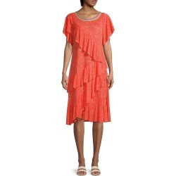 Pitusa Women's Volare Asymmetric Ruffle Dress - Strawberry - Size Standard (M-L-XL) found on MODAPINS from Saks Fifth Avenue OFF 5TH for USD $39.97