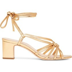 Loeffler Randall Women's Libby Ankle-Wrap Metallic Leather Sandals - Gold - Size 10.5 found on MODAPINS from Saks Fifth Avenue for USD $245.00