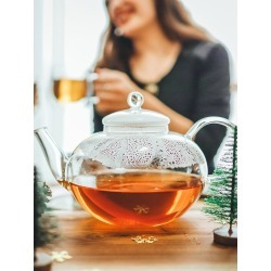 Grosche Cambridge Teapot and Stainless Steel Infuser, 68 oz. -...