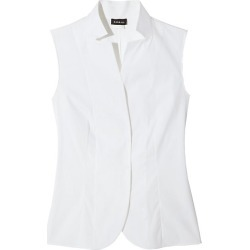 Akris Women's Stand Collar Blouse - White - Size 6