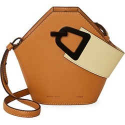 Danse Lente Women's Mini Johnny Geometric Leather Bucket Bag - Toffee Sawdust found on MODAPINS from Saks Fifth Avenue for USD $430.00