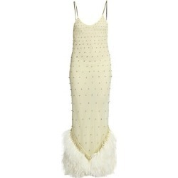 Attico Women's Ostrich & Swarovski Crystal Slip Dress - Pale Yellow - Size 38 (4) found on MODAPINS from Saks Fifth Avenue for USD $3445.00