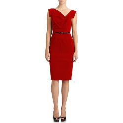 Black Halo Women's Belted Sheath Dress - Red - Size 6 found on MODAPINS from Saks Fifth Avenue for USD $375.00