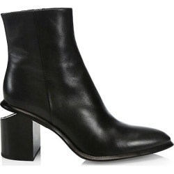 Alexander Wang Women's Anna Rhodium & Leather Ankle Boots - Black - Size 35.5 (5.5) found on MODAPINS from Saks Fifth Avenue for USD $695.00