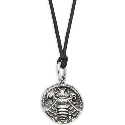 Sterling Silver & Waxed Cord Bee Coin Pendant Necklace found on Bargain Bro Philippines from Saks Fifth Avenue OFF 5TH for $234.00