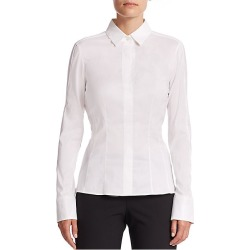 BOSS Women's Bashina Stretch Poplin Blouse - White - Size 12 found on MODAPINS from Saks Fifth Avenue for USD $198.00