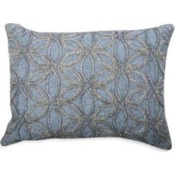 Iris Beaded Linen Pillow