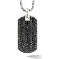 The Pavé Collection Sterling Silver & Black Diamond Enhancer Tag Pendant