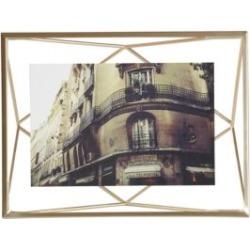Cadre à photos en laiton mat Prisma, 10 x 15 cm
