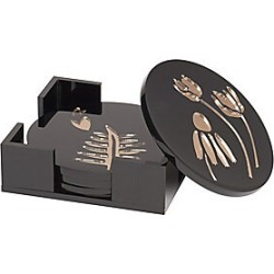 Edie Parker Garden Delight Round Coasters - Black found on Bargain Bro Philippines from Saks Fifth Avenue for $595.00