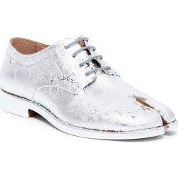 Maison Margiela Women's Metallic Leather Lace-Up Oxfords - Silver - Size 8.5 found on MODAPINS from Saks Fifth Avenue for USD $1085.00