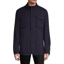 Corneliani Men's Connected Wool-Blend Field Jacket - Navy - Size 58 (48) R found on MODAPINS from Saks Fifth Avenue OFF 5TH for USD $503.98