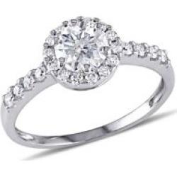 Halo 14K White Gold & Diamond Engagement Ring