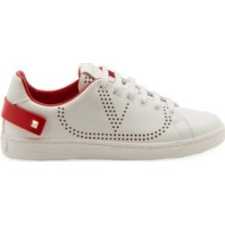 Valentino Garavani Net Mesh Leather Sneakers found on Bargain Bro from Saks Fifth Avenue UK for £586