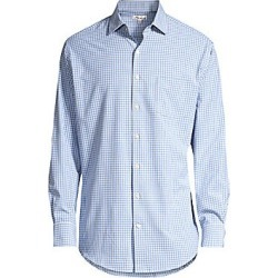 Peter Millar Men's Hills Gingham Sport Shirt - Vessel British Grey - Size Small found on Bargain Bro Philippines from Saks Fifth Avenue for $67.50