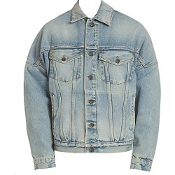 Palm Angels Men's Logo Over Denim Jacket - Blue - Size Small found on MODAPINS from Saks Fifth Avenue for USD $805.00