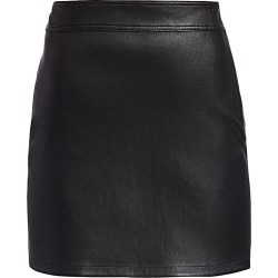 Helmut Lang Women's Leather Mini Skirt - Onyx - Size 10 found on MODAPINS from Saks Fifth Avenue for USD $486.50