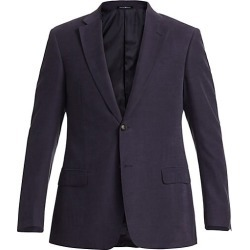 Emporio Armani Men's Linen-Blend Sportcoat - Navy - Size 56 (46) R found on MODAPINS from Saks Fifth Avenue for USD $522.37