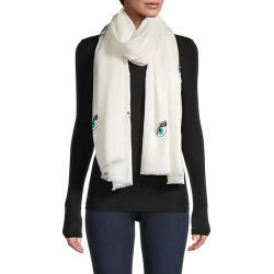 Janavi Women's Sparkling Eyes Merino Wool Scarf - Ivory found on MODAPINS from Saks Fifth Avenue for USD $375.00