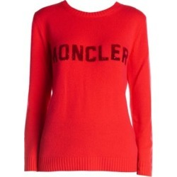 Sequin Letter Logo Wool & Cashmere Knit Sweater