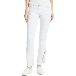 Meg Distressed Straight-Leg Jeans found on MODAPINS from Saks Fifth Avenue for USD $158.40